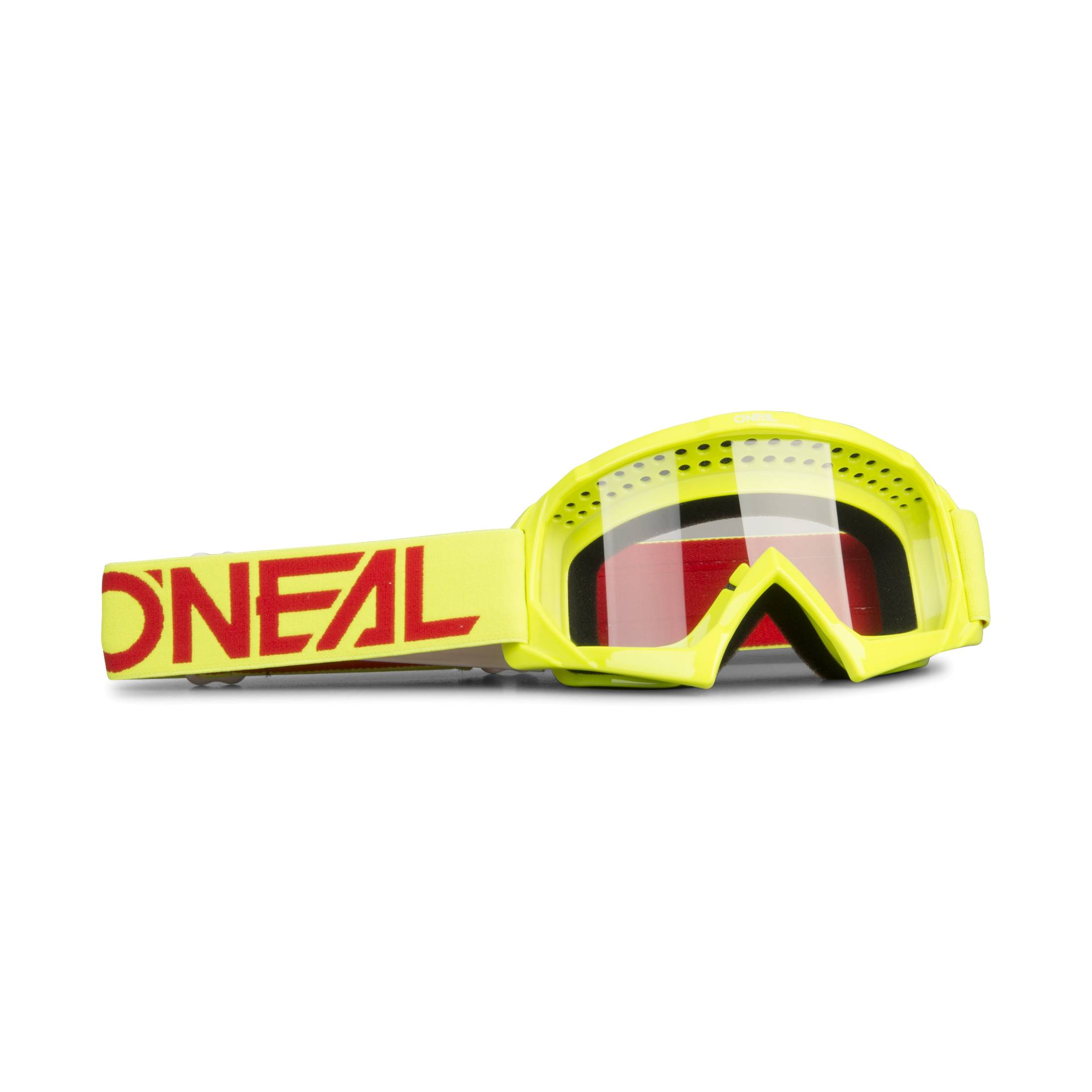 O'Neal Masque cross Enfant O'Neal B-10 Solid - Jaune fluo et Rouge