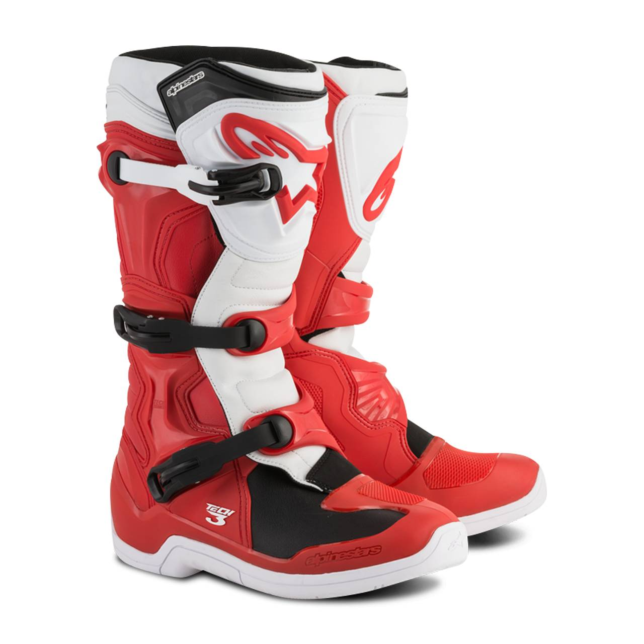 Alpinestars Bottes cross Alpinestars TECH 3 Rouge-Blanc
