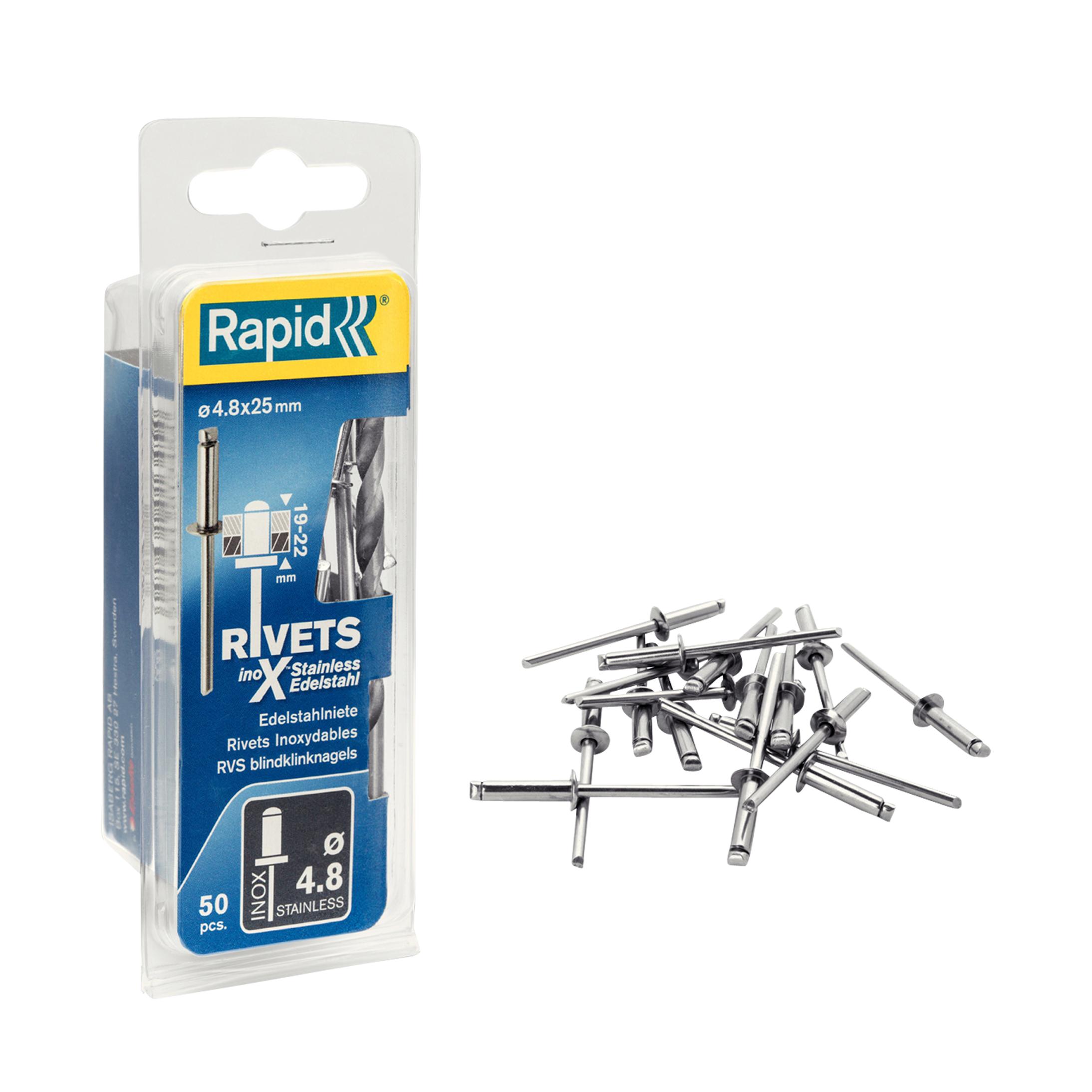 Rapid 50 Rivets en Inox Rapid Ø 4,8 x 25mm