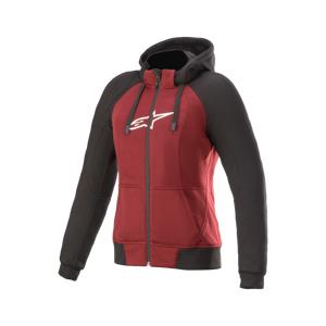 Alpinestars Sweat à Capuche Moto Femme Alpinestars Stella Chrome Sport Rouge Jaspe-Noir-Blanc - Publicité
