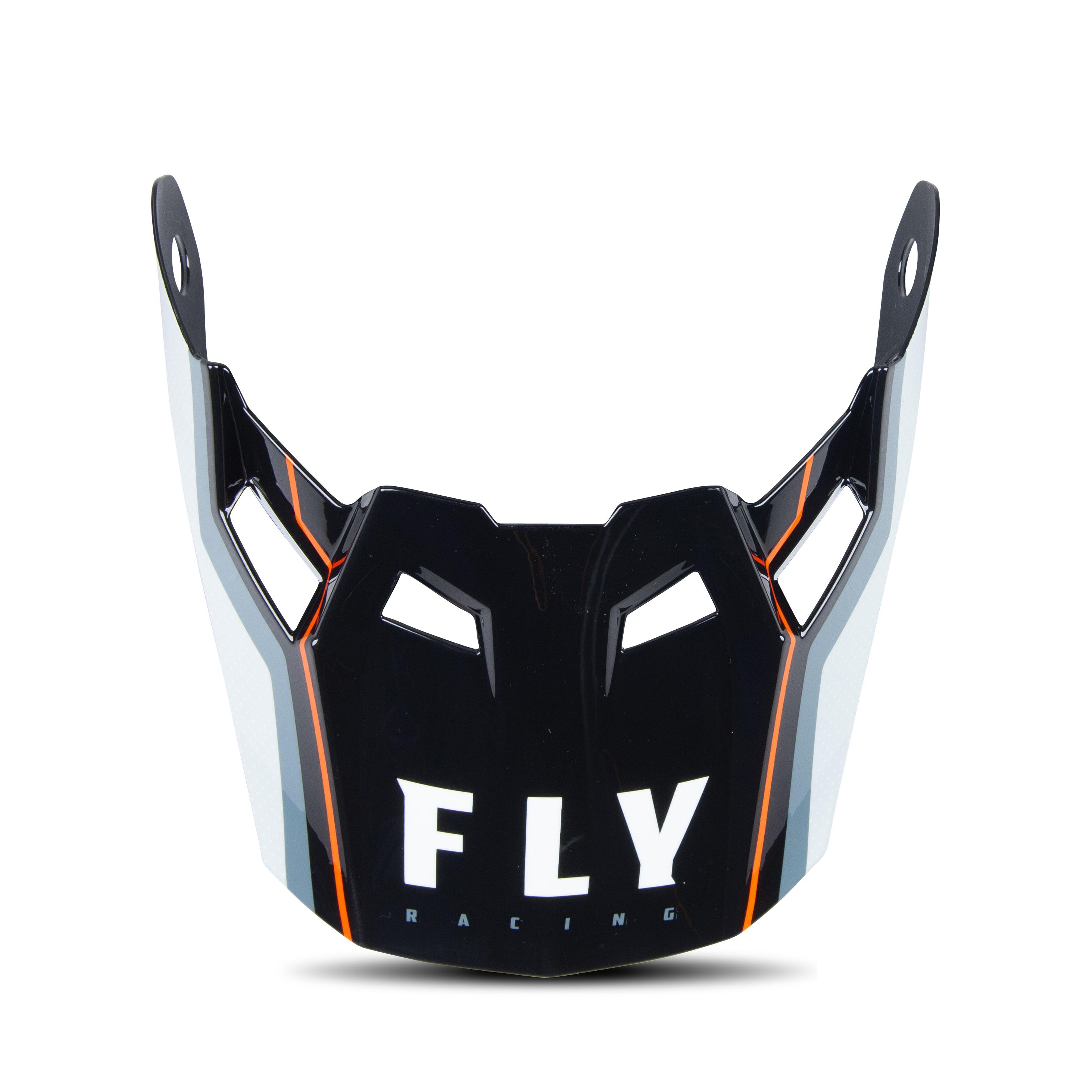 FLY Racing Écran Casque Enfant FLY Racing Formula Carbon Axon Noir-Gris-Orange