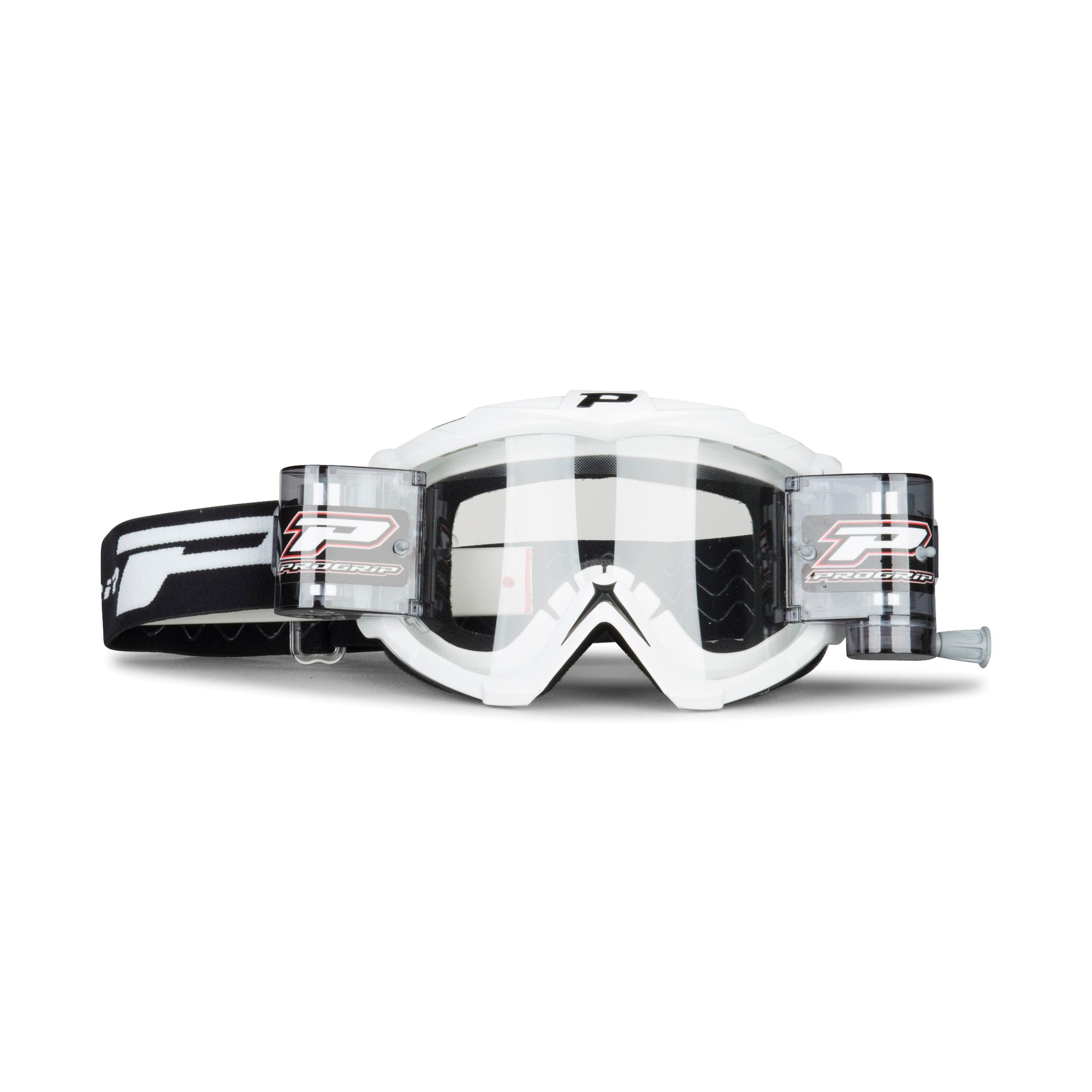 Progrip Masque cross Progrip XL Roll-off 3301 blanc