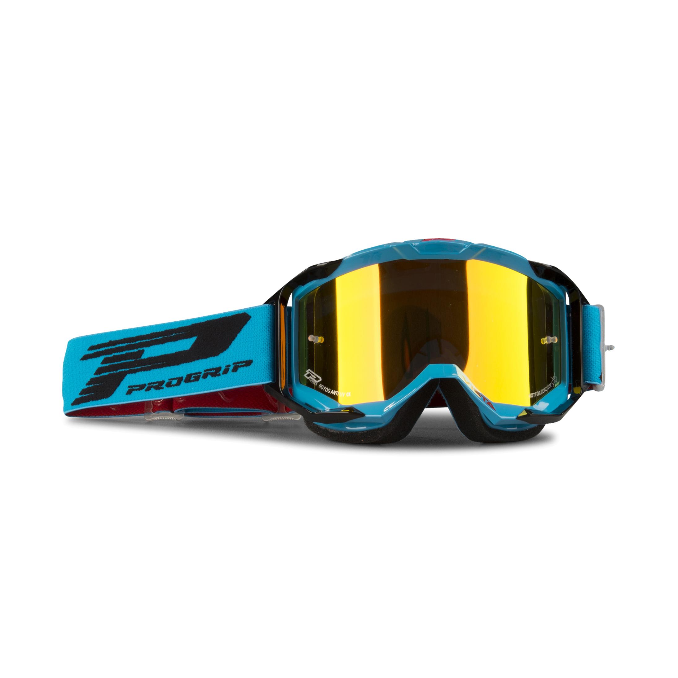 Progrip Masque cross Progrip 3303 Vista Turquoise-Noir Multi-épaisseurs