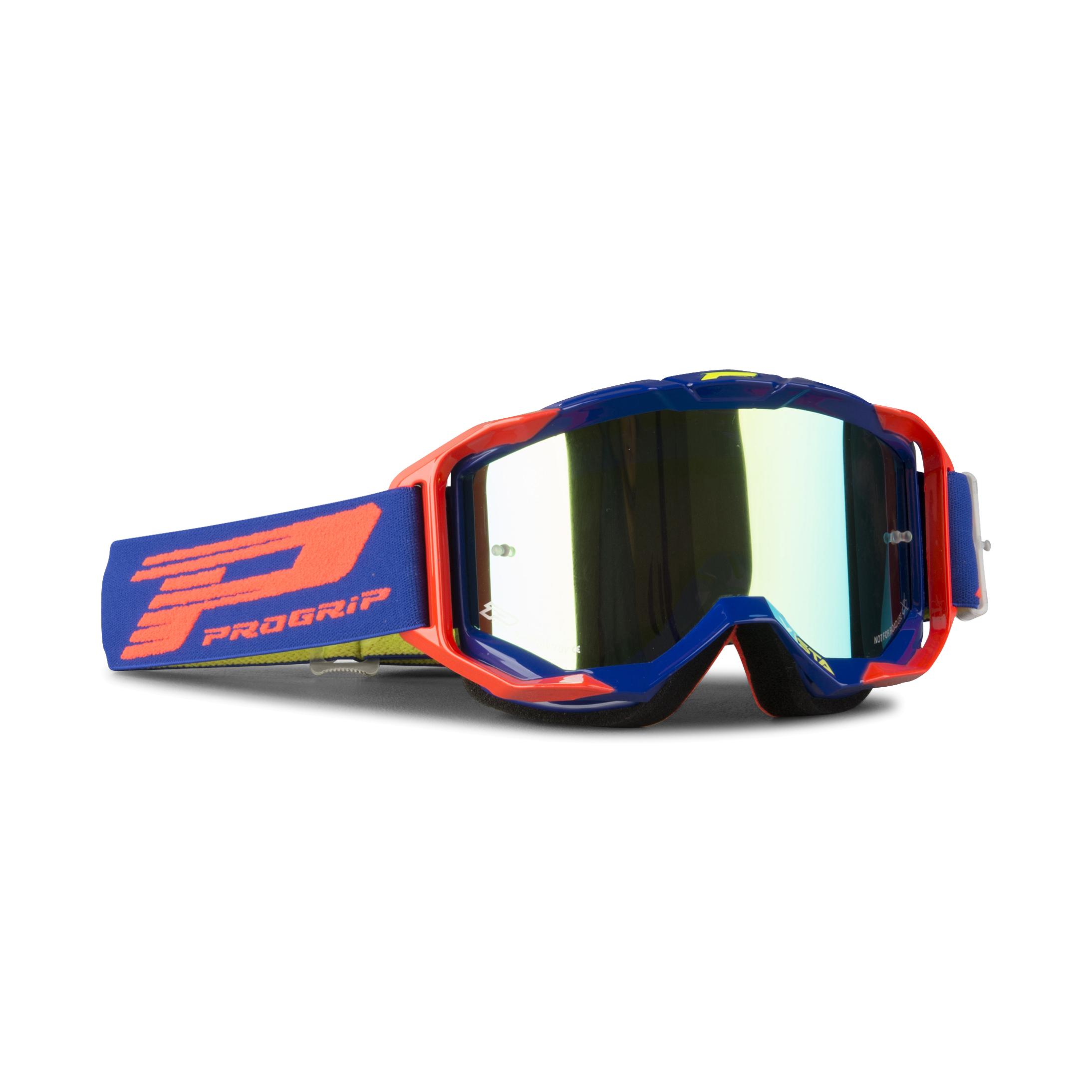 Progrip Masque cross Progrip 3303 Vista Bleu-Orange Fluo Multi-épaisseurs