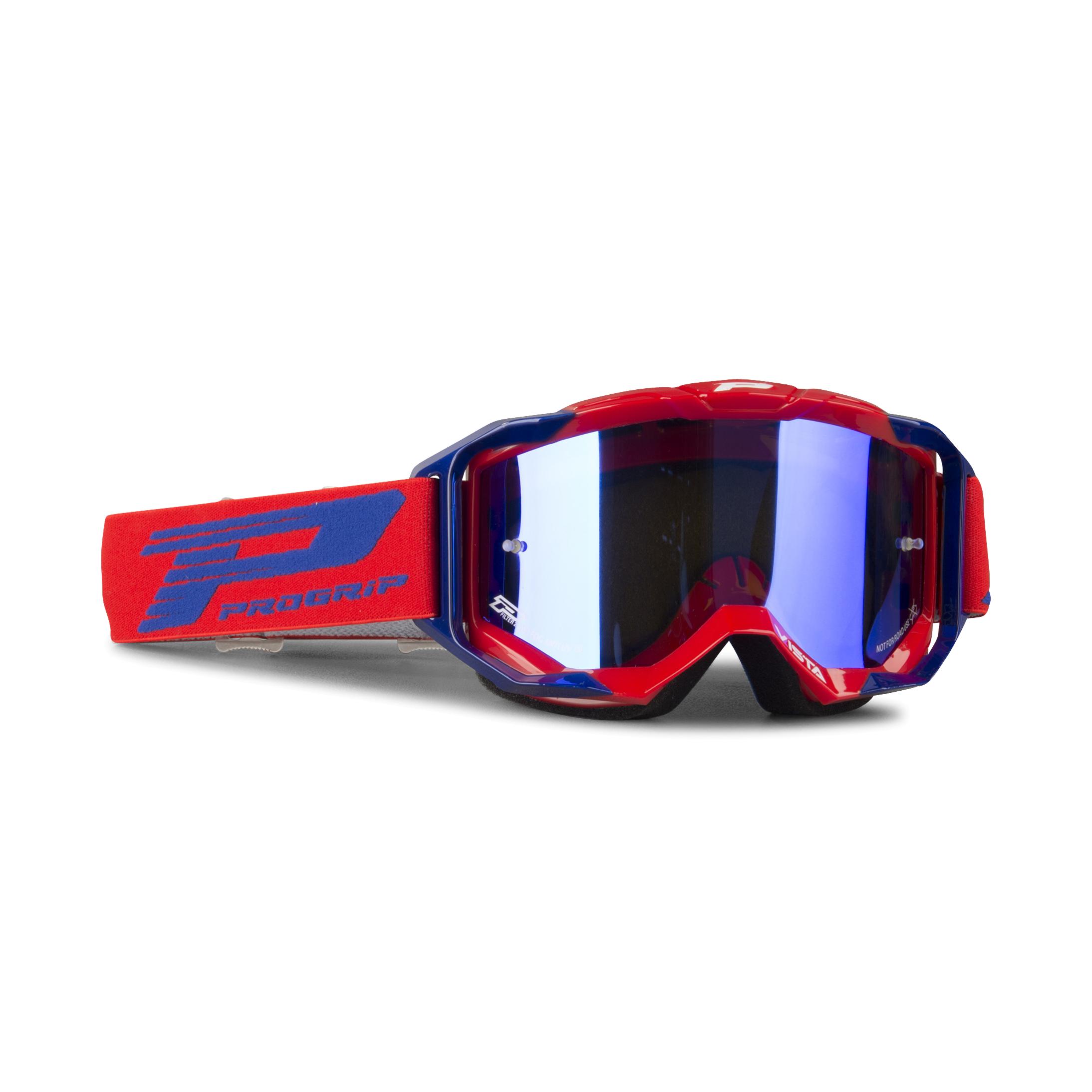Progrip Masque cross Progrip 3303 Vista Rouge-Bleu Multi-épaisseurs