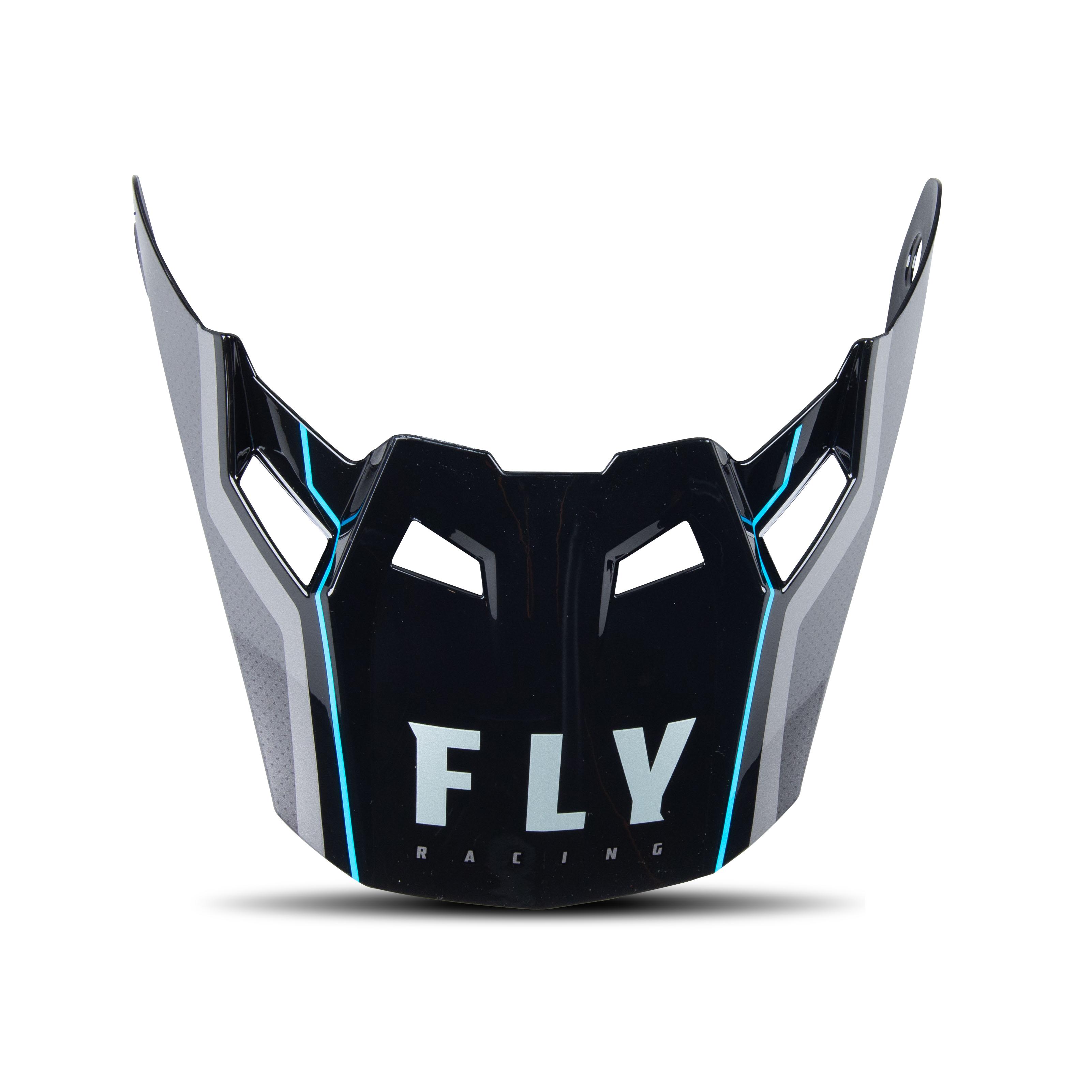 FLY Racing Écran Casque Enfant FLY Racing Formula Carbon Axon Peak Noir-Rouge