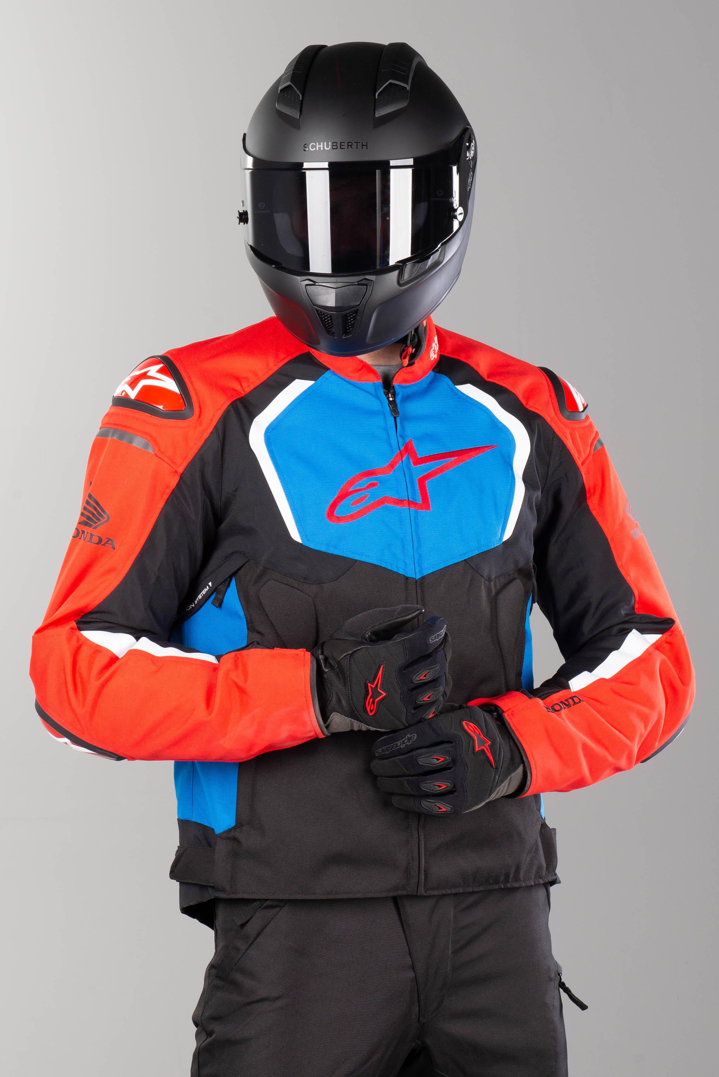 Alpinestars Veste Honda Alpinestars Honda T-GP Pro V2 Noir-Rouge-Bleu 4XL