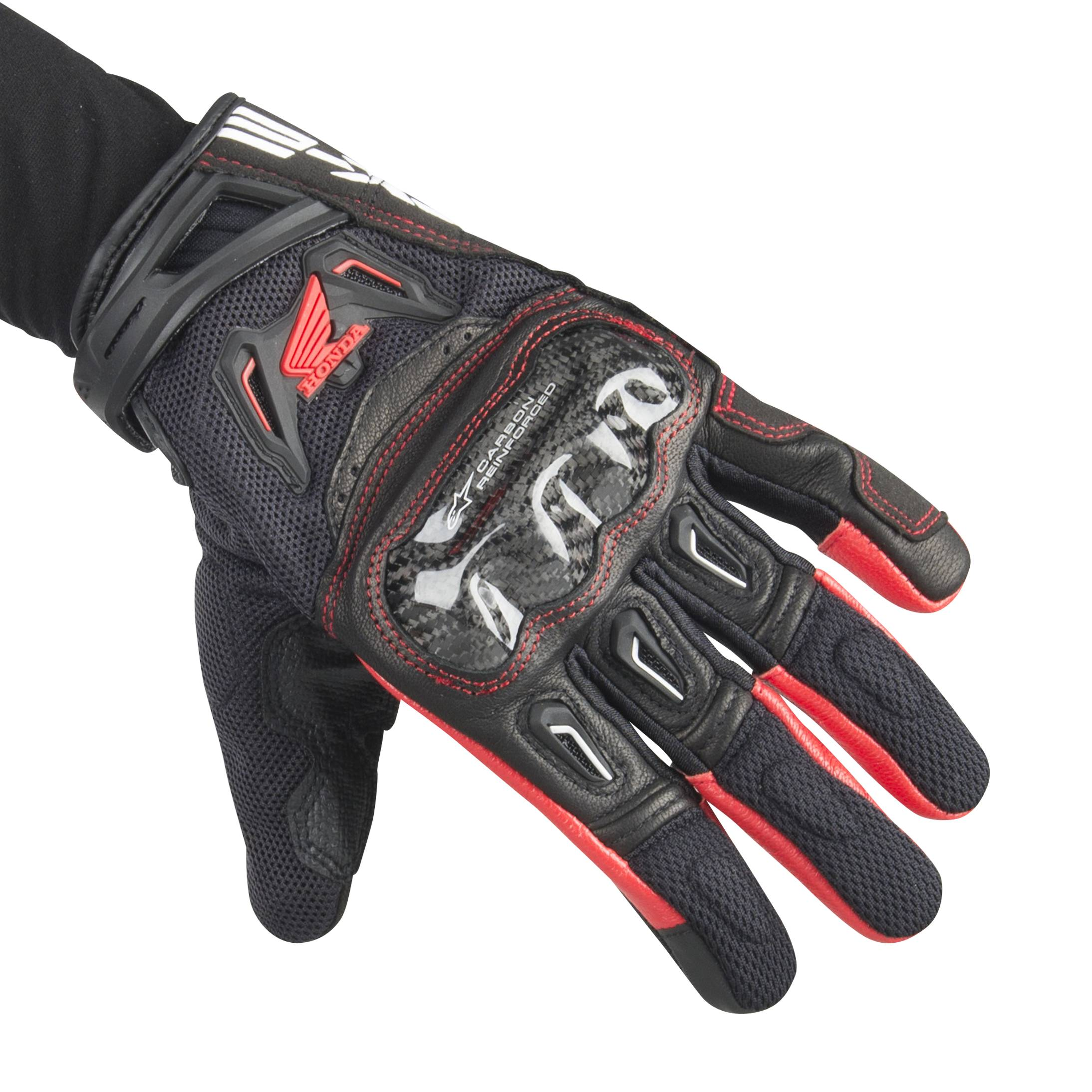 Alpinestars Gants Moto Alpinestars SMX-2 Air Carbon V2 Noir-Rouge M (9)
