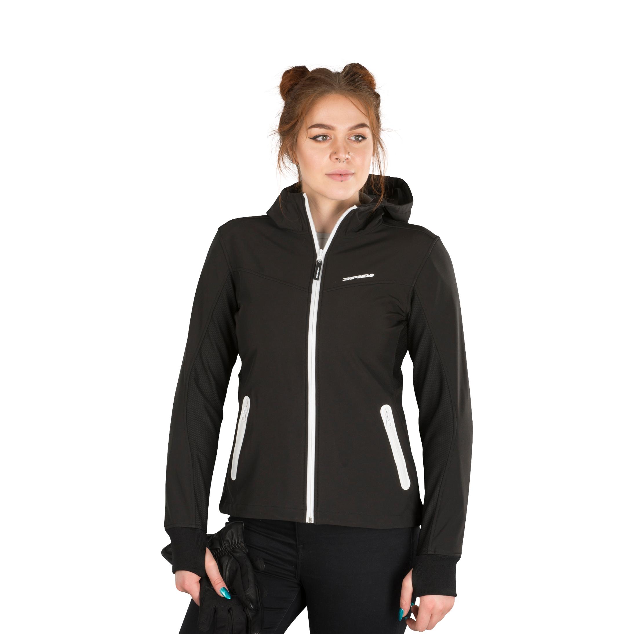 Spidi Veste à Capuche Femme Spidi Armor Noir-Blanc XL