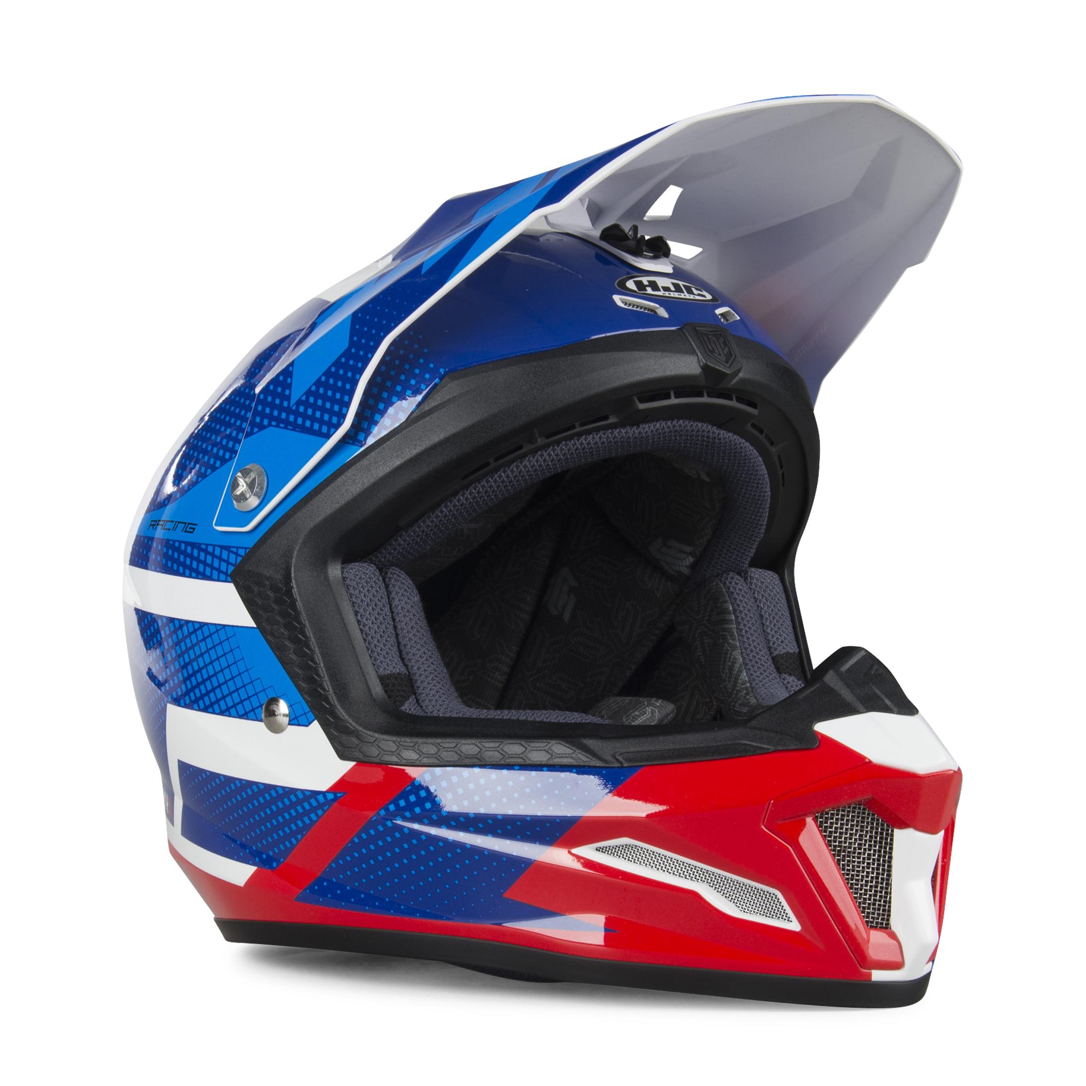 HJC Casque Enfant HJC CL-XY Argos Bleu-Rouge XL 55-56cm