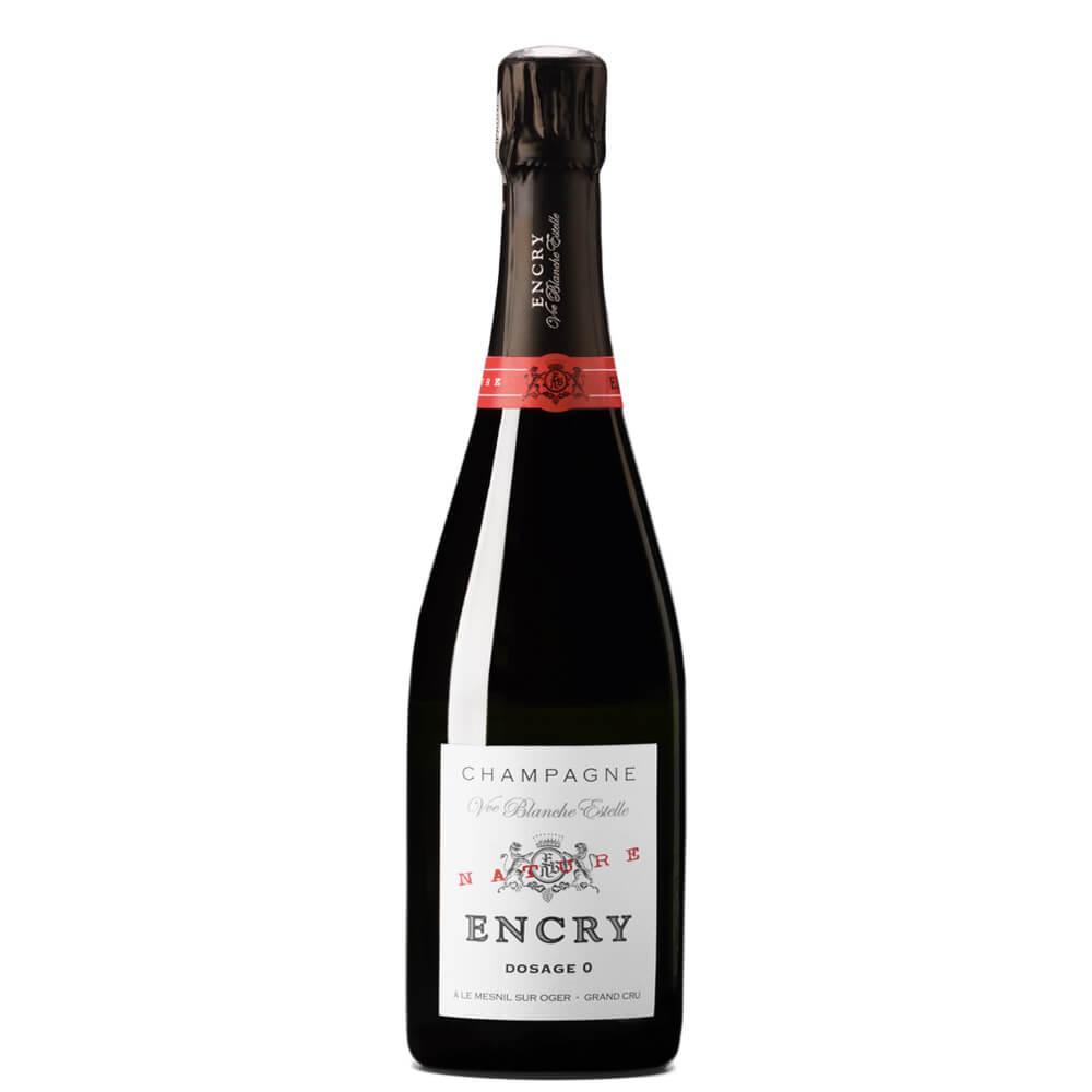 """Vue Blanche Estelle Champagne Dosage Zéro Blanc De Blancs Grand Cru """"encry Grande Cuvée"""" Jéroboam"""