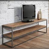 Inside75 Meuble TV au style industriel DAMON en chêne vintage