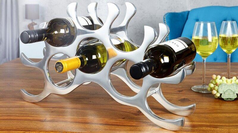 gdegdesign Porte-bouteilles design aluminium poli - Bruder