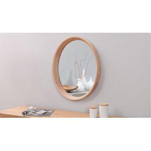 gdegdesign Miroir design ovale cadre bois de chêne - Memphis - Publicité