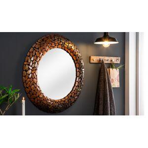 gdegdesign Miroir design rond cadre mosaïque cuivre - Braga - Publicité