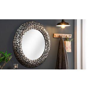 gdegdesign Miroir design rond cadre mosaïque argent - Braga - Publicité