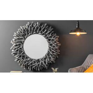 gdegdesign Miroir design rond cadre bois flotté gris - Roy - Publicité