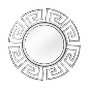 gdegdesign Miroir design rond cadre aluminium argenté - Rima - Publicité