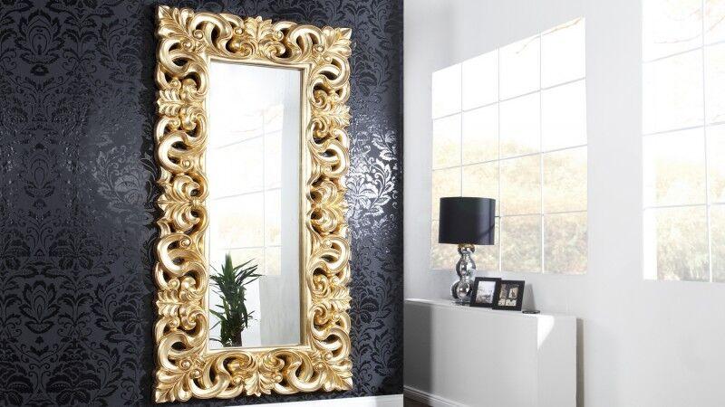 gdegdesign Miroir baroque avec ornement volute or doré - Chester