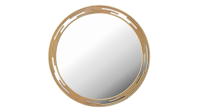 gdegdesign Miroir design rond métal doré or - Rosa