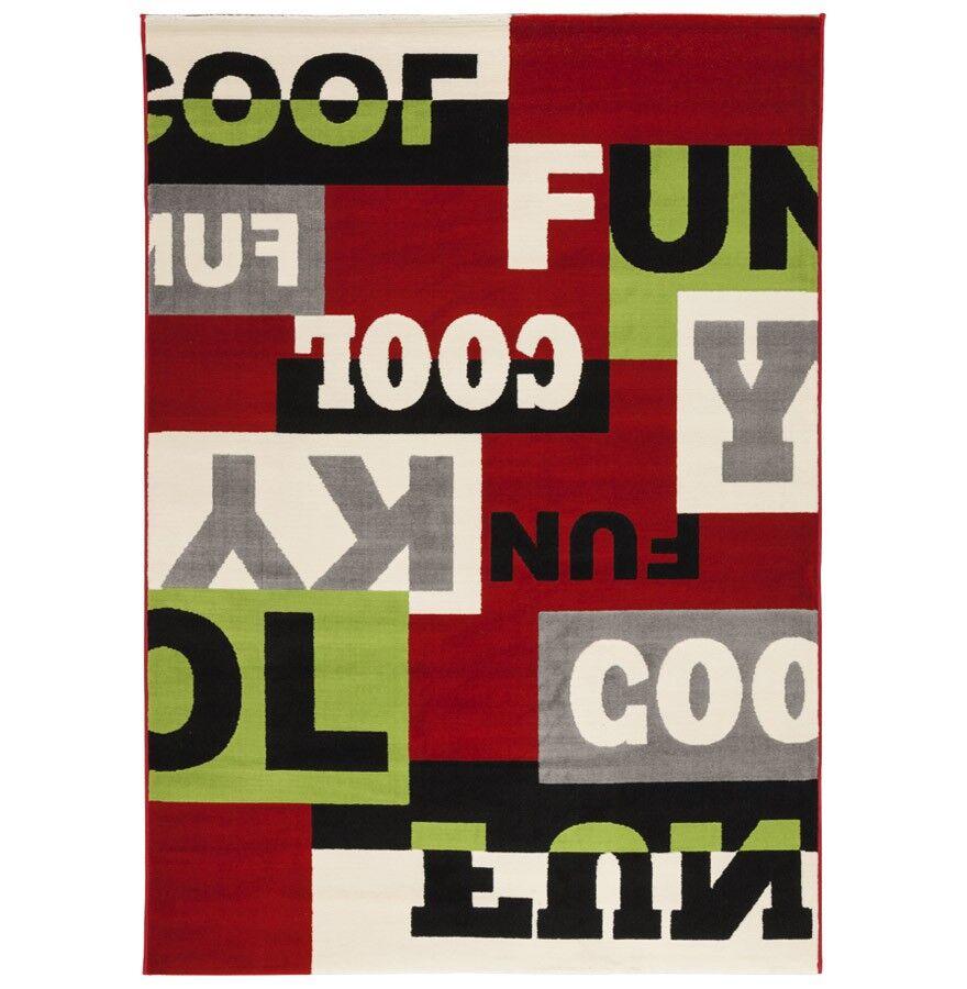 gdegdesign Tapis design rectangulaire multicolore 230x160 cm - Clark