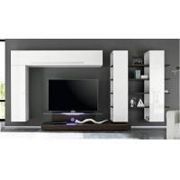 gdegdesign Ensemble meuble TV mural lumineux wengé avec rangements - Farrell <br /><b>919 EUR</b> gdegdesign