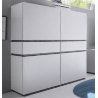 gdegdesign Buffet haut design blanc mat 4 portes + 2 tiroirs - Ivo <br /><b>999 EUR</b> gdegdesign
