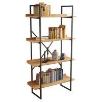 gdegdesign Bibliothèque étagère industrielle bois et métal gris anthracite - Walter <br /><b>309 EUR</b> gdegdesign