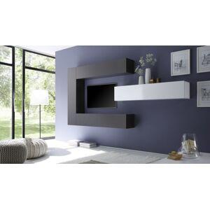 gdegdesign Ensemble meuble TV mural avec rangements - Manoj - Publicité