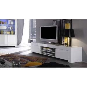 gdegdesign Meuble TV blanc 2 portes - Naomi - Publicité