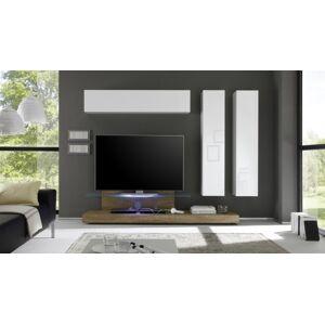 gdegdesign Ensemble meuble TV mural lumineux avec rangements - Upton - Publicité