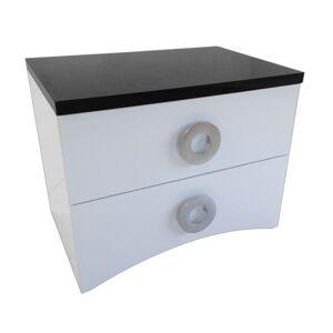 gdegdesign Chevet design noir et blanc 2 tiroirs - Ros - Publicité