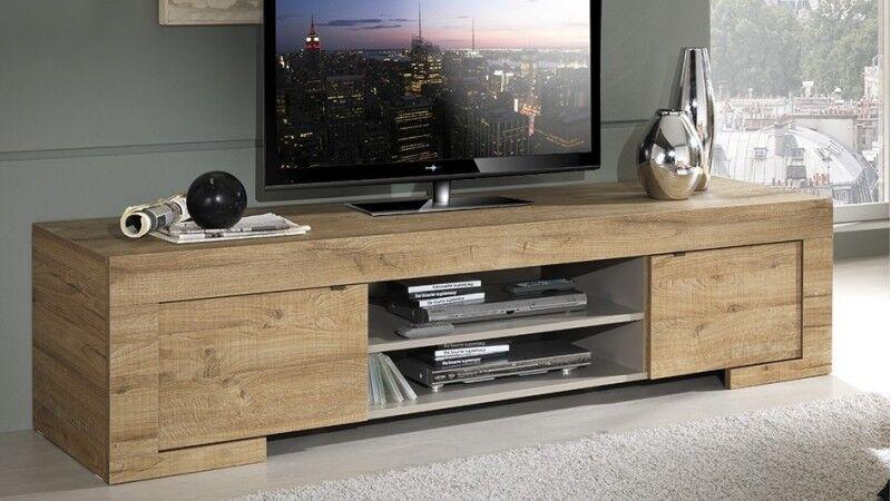 gdegdesign Meuble TV bois 2 portes 190 cm - Karel