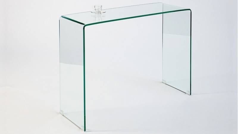 gdegdesign Console design verre trempé transparent - Julia