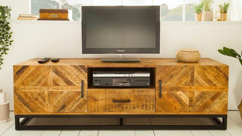 gdegdesign Meuble TV bois et métal industriel 160 cm - William