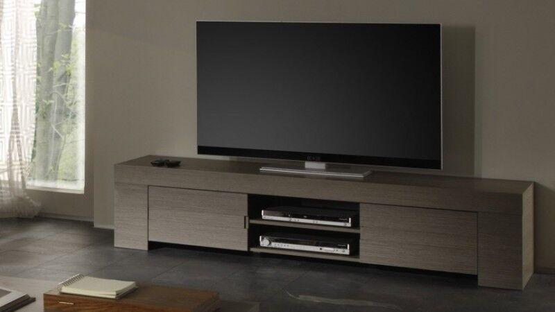 gdegdesign Meuble TV bois 2 portes - Boris
