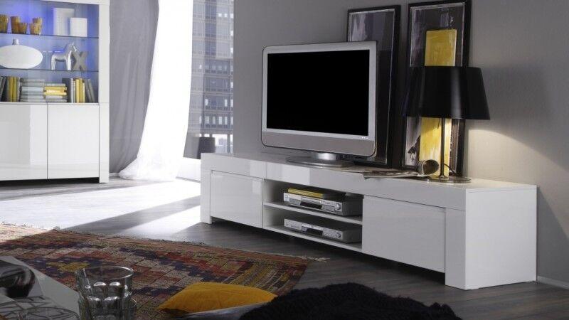 gdegdesign Meuble TV blanc 2 portes - Naomi