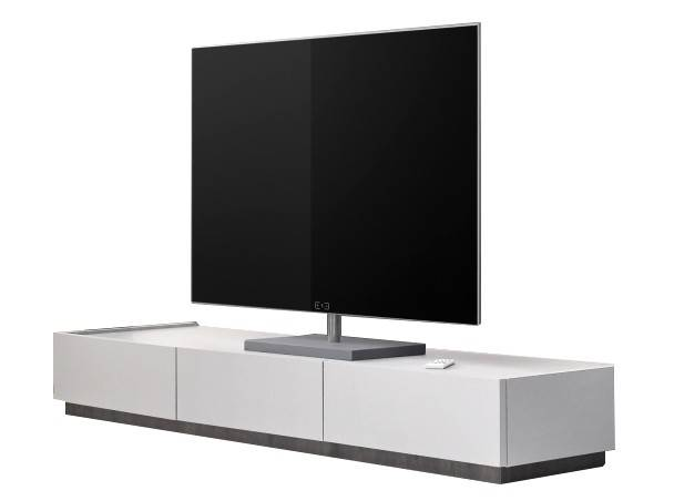 gdegdesign Meuble TV blanc mat 3 tiroirs - Ivo