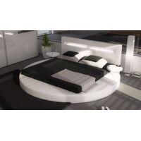gdegdesign Lit rond design blanc 140x190 cm simili cuir - Uster <br /><b>999.00 EUR</b> gdegdesign