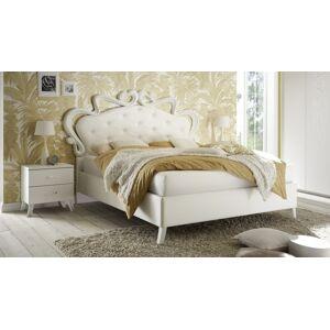 gdegdesign Lit blanc 160x200 cm simili cuir baroque capitonné - Velia - Publicité