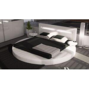 gdegdesign Lit rond design blanc 180x200 cm simili cuir - Uster - Publicité