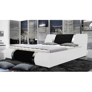 gdegdesign Lit blanc et noir bicolore 180x200 cm simili cuir - Spencer - Publicité