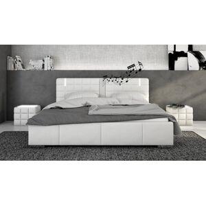 gdegdesign Lit lumineux blanc avec haut-parleurs 180x200 cm - Wouter - Publicité