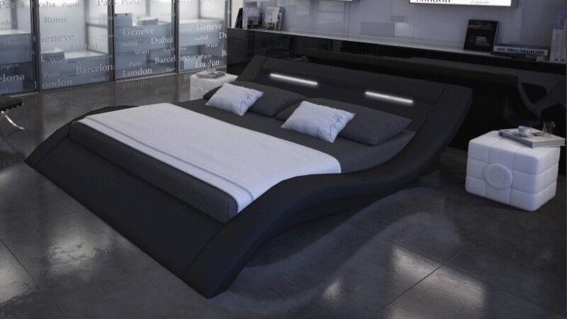gdegdesign Lit design lumineux noir 140x190 cm - Ozark
