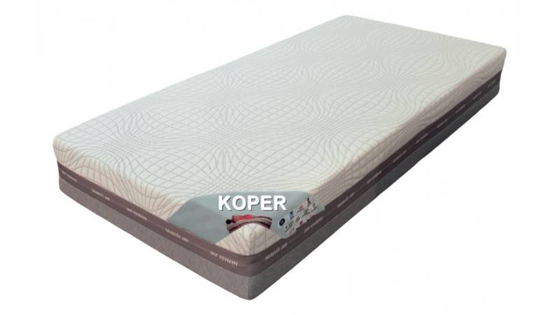 gdegdesign Matelas 180x200 cm mémoire de forme et latex - Koper