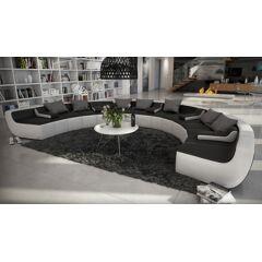 gdegdesign Canapé d'angle panoramique design en cuir - Keizer