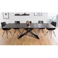 gdegdesign Table à manger extensible lave foncé piétement noir 180 260 cm - Séville <br /><b>1499 EUR</b> gdegdesign