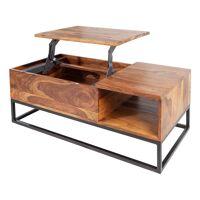 gdegdesign Table basse rectangulaire bois massif de palissandre plateau relevable - Boris <br /><b>599.00 EUR</b> gdegdesign