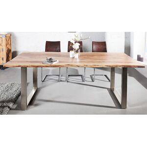 gdegdesign Table à manger rectangulaire bois d'acacia massif 180 cm - Lawson - Publicité