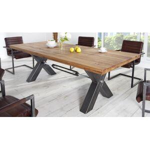 gdegdesign Table à manger rectangulaire bois de chêne foncé massif 200 cm - Jack - Publicité